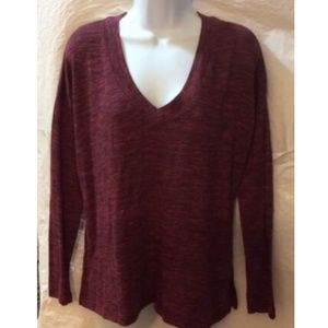 Old Navy Women's Maroon Top Long Sleeve Pullover